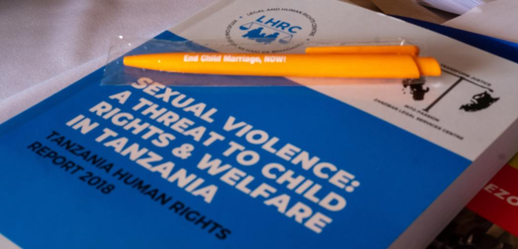 Book with the report on Tanzania sexual violence to children