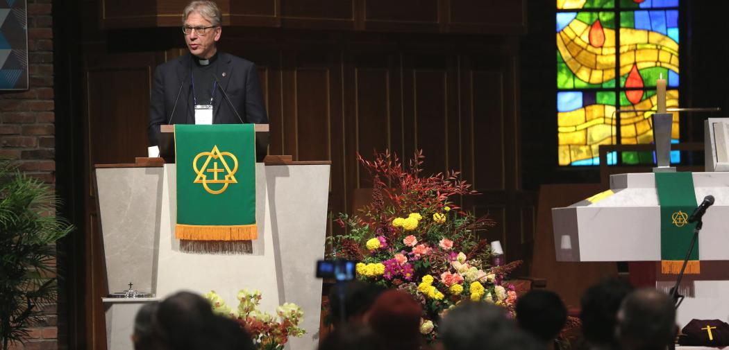 WCC general secretary Rev. Dr Olav Fykse Tveit at the Assembly of the National Council of Churches in Korea. Photo: Son Seung-ho/NCCK/WCC