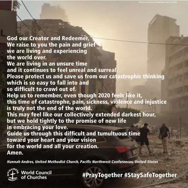 God our Creator and Redeemer, We raise to you the pain and grief we are living and experiencing the world over...