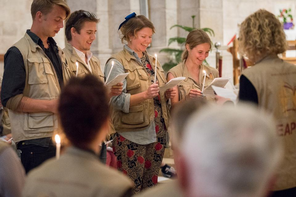 Handover ceremony at Saint Anne's Basilica in the Old City, Jerusalem. Photo: Albin Hillert/WCC