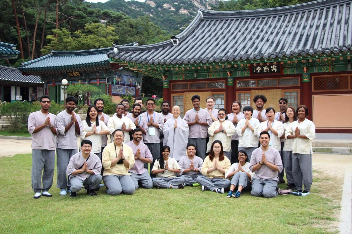 YATRA participants during their stay in Jingwansa Temple, Seoul, Korea, September 2019, Photo: WCC