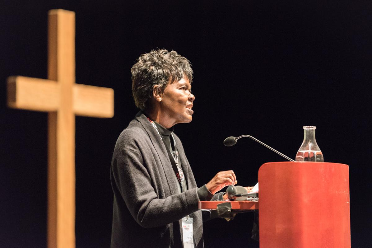 Dr Agnes Abuom, moderator of the Central Committee of the World Council of Churches. Photo: Albin Hillert/WCC