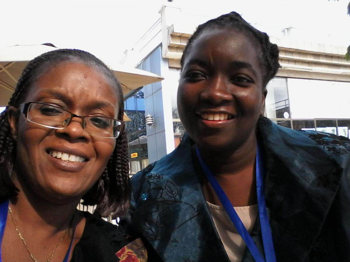 From left to right: Ayoko Bahun-Wilson and Sophie Chirongoma at the World YWCA training on Sexual and Reproductive Health Rights and HIV, in Arusha, Tanzania.