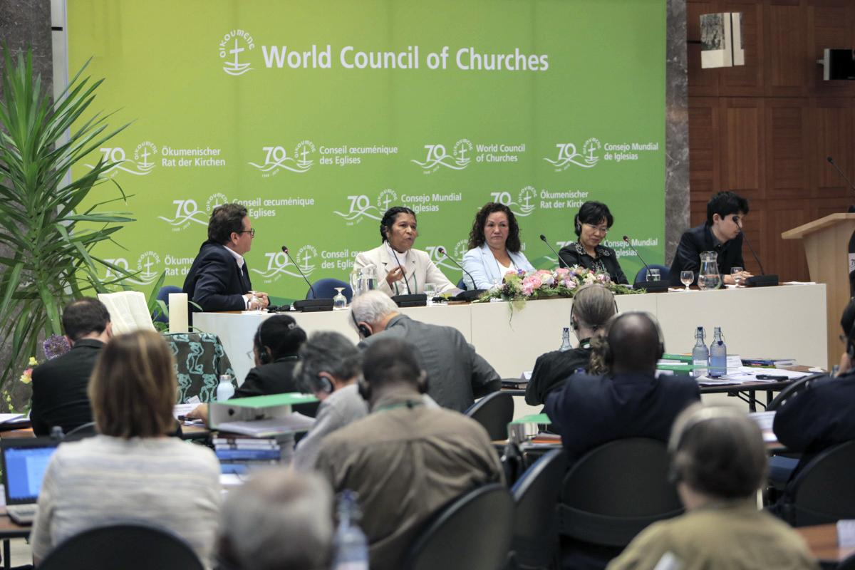 Plenary session on Ecumenical diakonia. Photo: Sean Hawkey/WCC