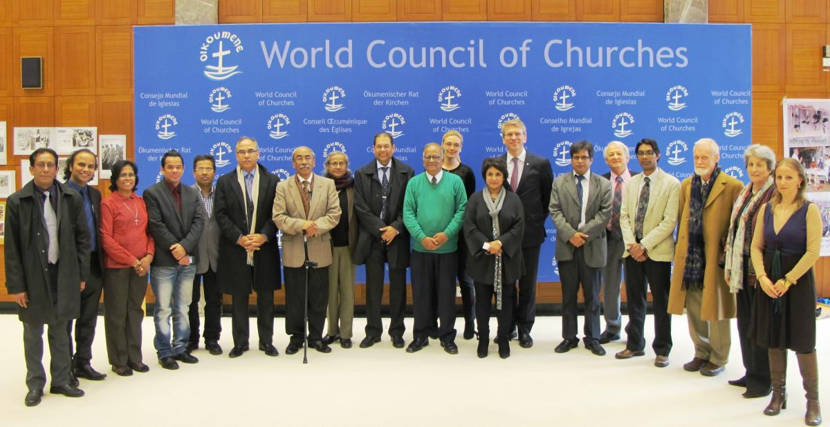 Participants in a WCC meeting on human rights and human security in Bangladesh held at the Ecumenical Centre, Geneva.