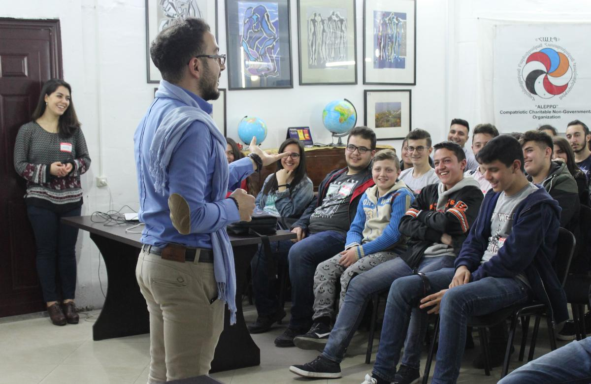 "Project launch at the ""Aleppo"" Compatriotic Charitable Organization in Yerevan, Armenia. Photo: Aleppo-NGO"