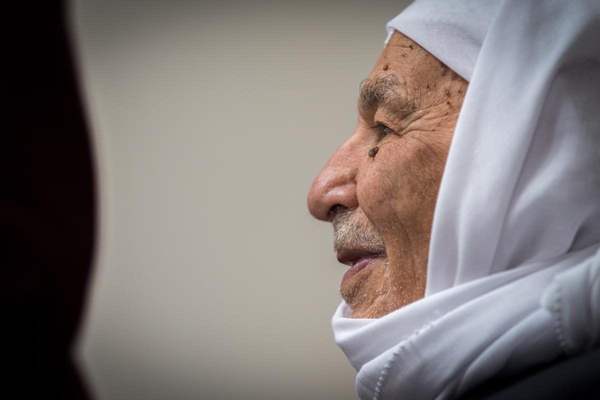 Jad Saba Yusef Salem was born Ma'alul, and lived there until the villagers had to flee in 1948.  All photos: Albin Hillert/WCC