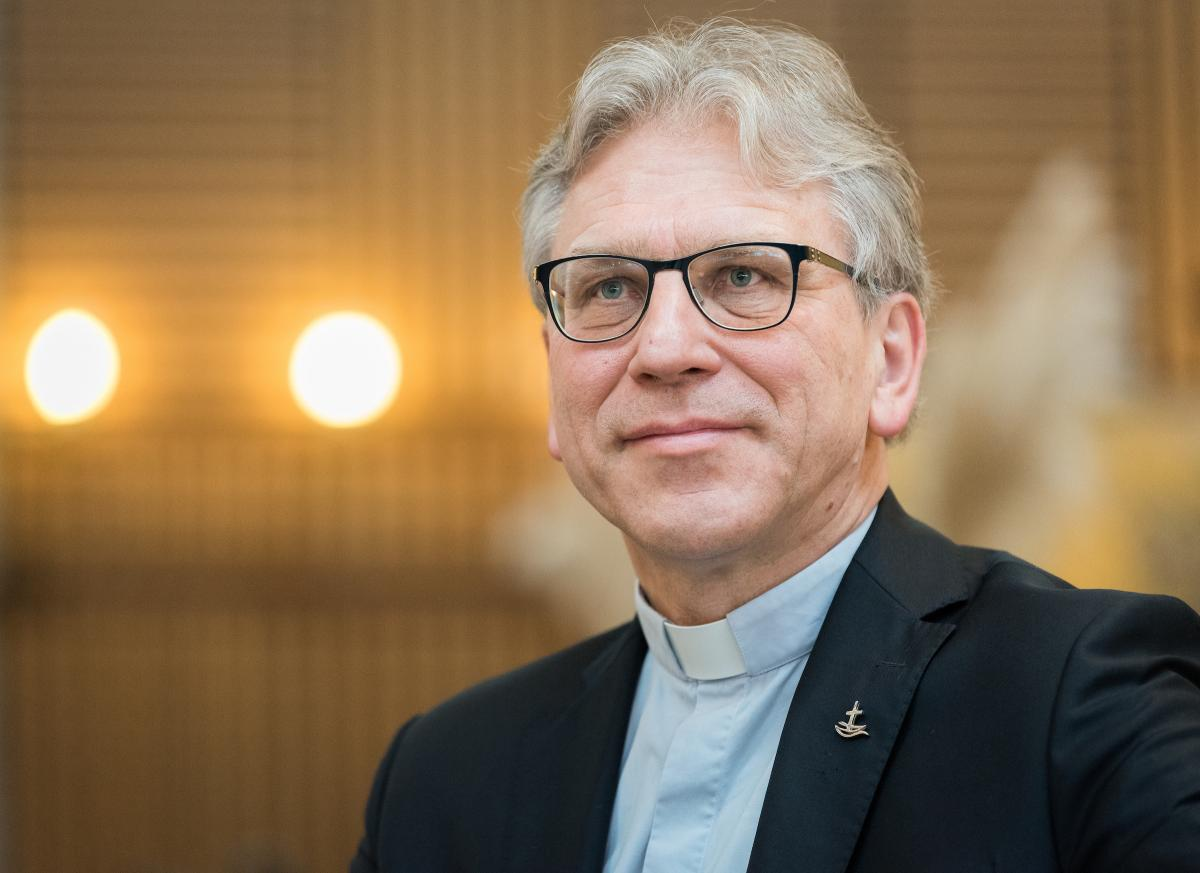 Rev. Dr Olav Fykse Tveit takes on his new role as presiding bishop of the Church of Norway from 1 April 2020. Photo: Albin Hillert/WCC