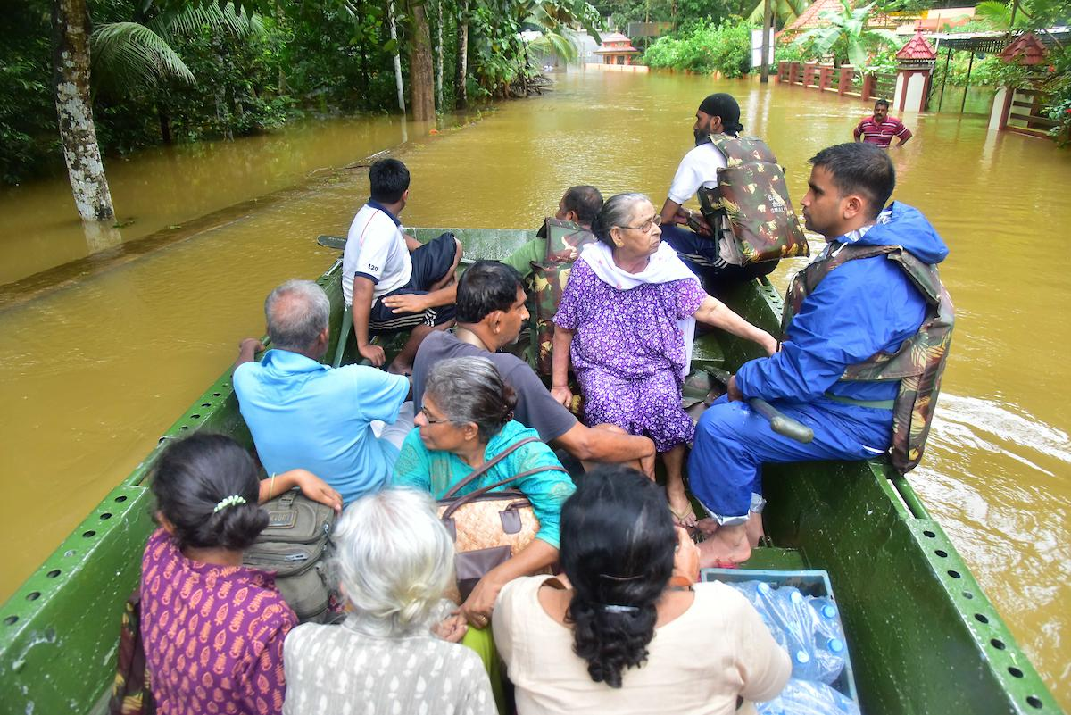 Rescue team at work during the Kerala floods. Photo courtesy: SgK27/Church of South India Synod