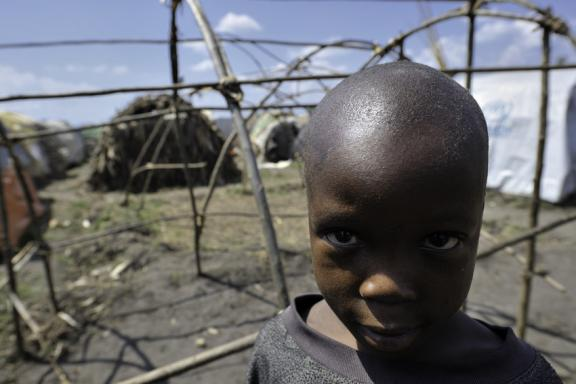 A boy in a camp in rebel-held territory in the eastern Congo, 2008.