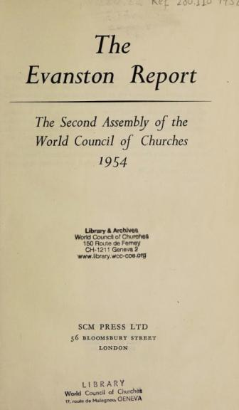 2nd Assembly of the WCC