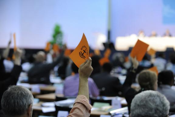 plenary session during WCC 10th Assembly