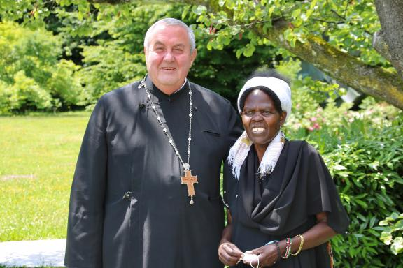Rev. Prof. Dr Ioan Sauca, WCC acting general secretary and Dr Agnes Abuom, moderator of the World Council of Churches central committee