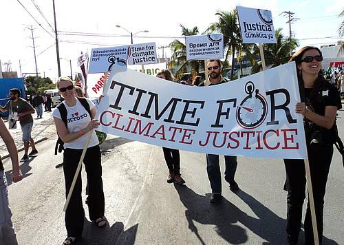 Marching for climate justice on the streets of Cancun   World Council of  Churches