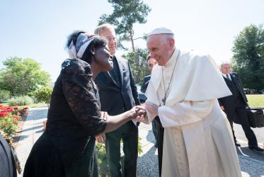 Visit of the Pope Francis to WCC, 2018