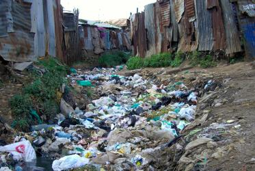 Lack of sanitation in Kibera, Nairobi, Africa's largest slum.