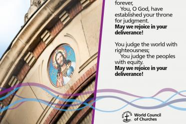 The LORD sits enthroned forever,     You, O God, have established your throne for judgment. May we rejoice in your deliverance! You judge the world with righteousness;     You judge the peoples with equity. May we rejoice in your deliverance!