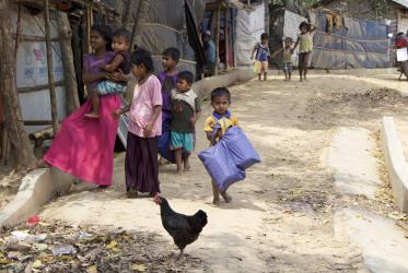 Children in Rohingya camp, in Kutupalong, Cox's Bazar, Bangladesh