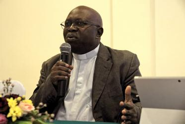 Mgr Bernard Munono Muyembe at the 56th meeting of the WCC's Commission of the Churches on International Affairs in Indonesia, 2019.