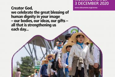 Creator God, we celebrate the great blessing of human dignity in you image - our bodies, our ideas, our gifts – all that strengthening us each day...