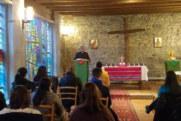 Gathered in the chapel of the Ecumenical Institute at Bossey.