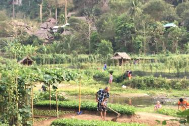 A Farmer in Maelah Refugee Camp on the Border of Thailand and Myanmar.