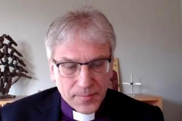 Bishop Dr Olav Fykse Tveit during the online morning prayer