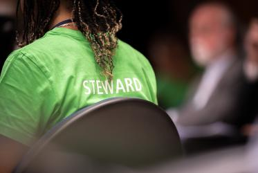 A Steward at a WCC event