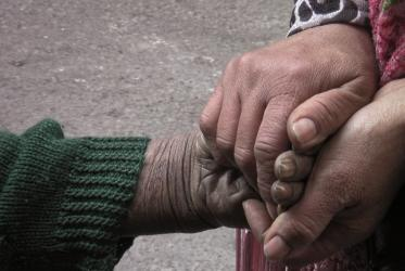 "Image of people holding hands, from the movie ""Little Palestine"""