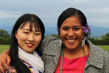 Youth representatives at WCC pilgrimage event