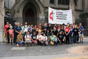 Argentinian Methodists joined the march in Buenos Aires. © Daniel Favaro