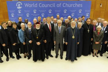 Participants in the WCC Ecumenical Consultation on Syria, in Geneva, Switzerland.