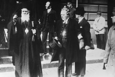 Archbishop Nathan Söderblom (centre) in 1925. Photo: WCC archives