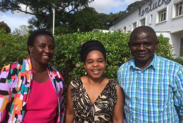 Mrs. Zondo, Rev. Neshangwe and Rev. Maforo. Photo: Claus Grue/WCC