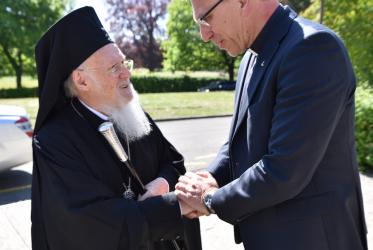 His All-Holiness Bartholomew I and Rev. Dr Olav Fykse Tveit. © Albin Hillert/WCC