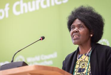 Dr Agnes Abuom, moderator of the World Council of Churches' central committee. Photo: Albin Hillert/WCC