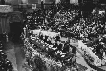 1st Assembly of the World Council of Churches in Amsterdam, Netherlands, 1948. Photo: WCC Archive