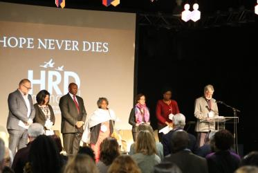 Remembrance for civil society leaders, environmentalists, and journalists who have been murdered for their work, at Civil Society Summit. Photo: CIVICUS