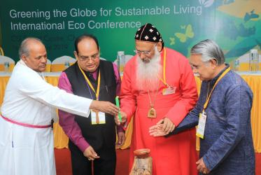 Heads of WCC member churches inaugurating the International Eco Conference. Photo: Dinesh Suna/WCC