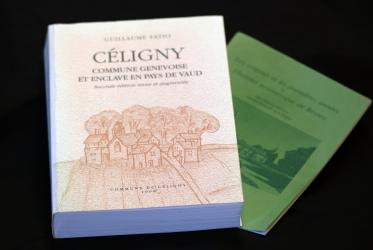 History of Celigny by Guillaume Fatio and the monography by Arnold Mobbs on the Ecumenical Institute in Bossey. Photo: Ivars Kupcis/WCC