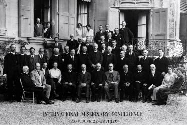 International Missionary Council Conference in Crans, Switzerland, 1920. Photo: WCC archives.