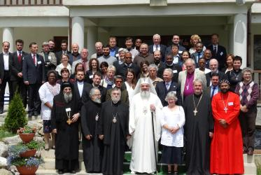 Participants in a meeting of the WCC's Faith and Order Commission at the Caraiman Monastery in Romania. © Romanian Orthodox Church