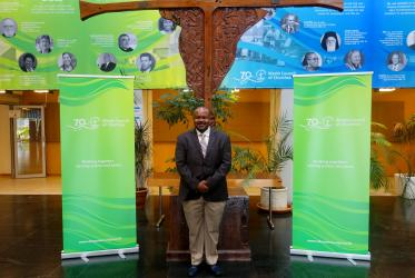 Rev. Dr Casely Essamuah visits the Ecumenical Centre, Geneva. Photo: Peter Kenny/WCC