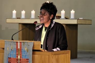 WCC moderator Dr Agnes Abuom, November 2018. Photo: Mikael Stjernberg/Christian Council of Sweden