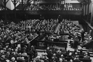Plenary session of the World Conference on Faith and Order, Edinburgh, 1937. Photo: WCC
