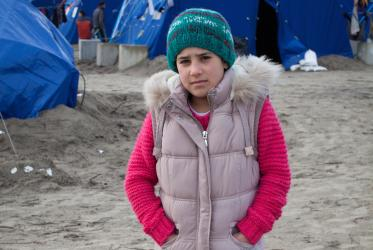 """My name is Souad. I am from Syria. We left because of the war, it isn't safe."" © Sean Hawkey/WCC"