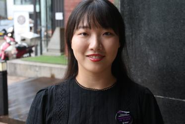 Hanbeet Rhee, member of the Ecumenical Youth Council in Korea. Photo: Gregoire De Fombelle/WCC