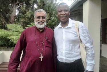 From left to right: Rev. Thomas Oommen, bishop of Madhya Kerala and deputy moderator of the Church of South India, and Archbishop Thabo Makgoba of the Anglican Church of Southern Africa. Photo: The Church of England - Diocese of Salisbury