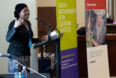 WCC deputy general secretary Prof. Dr Isabel Apawo Phiri speaks at a CSW side event. Photo: Douglas Leonard/WCC