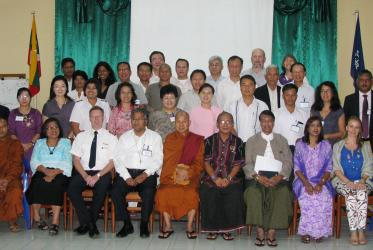 Participants in a WCC consultation on peace, human security and human dignity in Yangon, Myanmar.